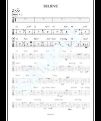BELIEVE / MISIA【ベース・タブ譜】