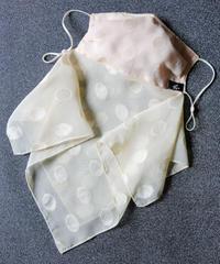 ポルカドットジャガードマスク(ネックカバー付き)