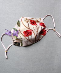 ボタニカルチュールレースマスク natural pink