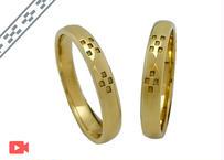 ミンサー甲丸指輪 -Yellow Gold- ペアリング
