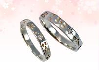 桜ミンサー指輪 プラチナ(pt950)– ペアリング –