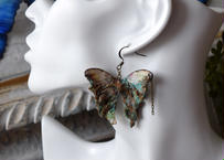 メネラウスモルフォのピアス  腐蝕鉱石.col 2Ssize (片耳用)①