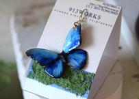メネラウスモルフォのイヤリング blue.col 3Ssize(片耳用)