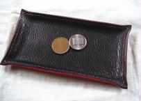 【受注生産】黒・赤の革トレイ(マネートレイ・アクセサリートレイ)