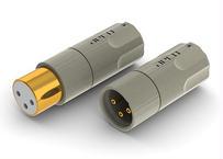 純銅 24金メッキ XLRプラグ [AMI-1060G] 2個1組