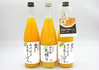 あけはま丸搾りジュース(うんしゅうみかん2本・伊予柑1本) 720ml×3本