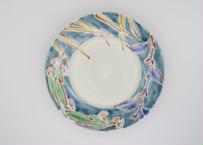 古川桜 色絵磁器ボタニカル皿22-3