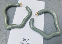 Strange Oval  Hoop Earrings(khaki)