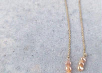 Pearl Chain Earrings (3pearl)
