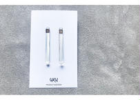 Straight Line Clear Earrings(clear)