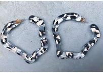 Strange Oval Hoop Earrings(Leopard)