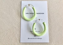 Point Color Oval Clear Earrings