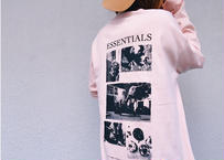 【Relax】Unisex Back Print Long Sleeve Tee(ESSENTIAL)