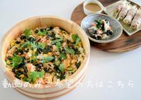 【レシピ&動画販売】簡単混ぜ寿司・さっぱりおろし和え・豚肉のモヤシ巻き