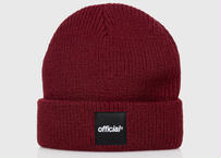OFFICIAL Everyday Box Logo Beanie (Burgundy)