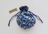 リバティキャンディ巾着・レモングローブ・ブルー