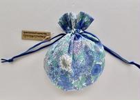 リバティキャンディ巾着・シアラ・ブルー