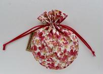 リバティキャンディ巾着・サマーセットビオラ・ピンク
