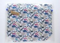 リバティトラベル巾着 キューフォーザズー ブルー