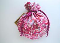 リバティキャンディ巾着・ジェニーズリボンズ・ピンク(お客様レビューあり)