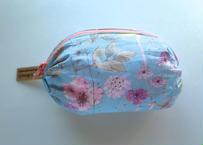 リバティバルーンポーチ(小)イルマ(70%縮小柄)水色