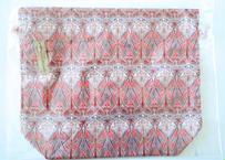 リバティトラベル巾着 アイアンシ サーモンピンク1