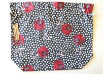 リバティトラベル巾着 ジュニパー ブラックレッド(お客様レビューあり)