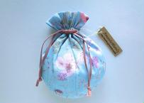 リバティキャンディ巾着・イルマ縮小サイズ・水色