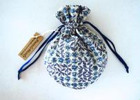 キャンディ巾着・リバティ・スリーピングローズ・ブルーパープル(お客様レビューあり)
