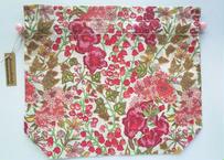 リバティトラベル巾着・エドナ・ピンク