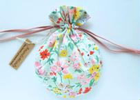 リバティキャンディ巾着・カリフォルニアブルーム ・ペールグリーンピンク