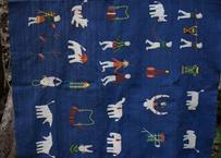 ナガ族刺繍ラグ