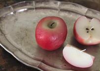 【完成品】林檎りんごキャンドル 3個セット(丸ごと、1/2、1/4)