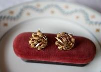 mimosa earrings, CROWN TRIFARI GOLD