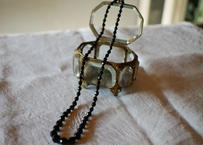 フレンチジェット ガラスのネックレス ①french jet glass necklace
