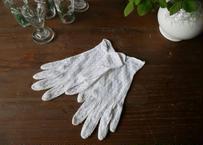 フランスアンティーク グローブ 花柄 レース 手袋