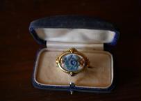 ルーサイト 青いバラのブローチ FRANCE antique BROCANTE vintage