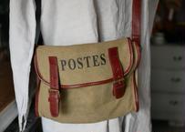 POSTES  vintage ショルダーバッグ フランスの郵便配達員 フランスアンティーク