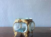 仏アンティーク ガラスのジュエリーボックス