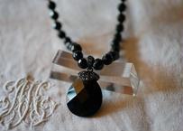 フレンチジェット ガラスのネックレス ⑤french jet glass necklace