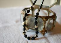 フレンチジェット ガラスのネックレス ②french jet glass necklace