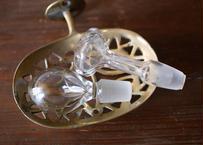 香水瓶 ガラスのパーツ 1 フランスアンティーク