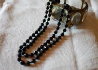 フレンチジェット ガラスのネックレス ④french jet glass necklace