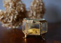 フランスアンティーク ガラスのジュエリーボックス