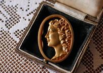 Bronze Face Brooch