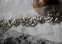 スパンコールの刺繍 3つ フランスアンティーク