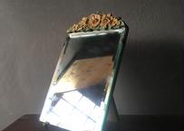 英アンティーク ガラス バーボラミラー
