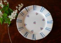 STOCK→2 サルグミンヌ 小花柄のアンティークプレート フランス