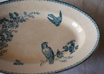 鳥の大きなお皿 フランスアンティーク ブロカント