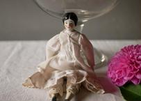 Robe BLANCHE  bisque doll